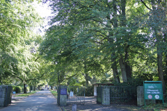 Hamburg Ohlsdorf Friedhof Einfahrt Klein-Borstel