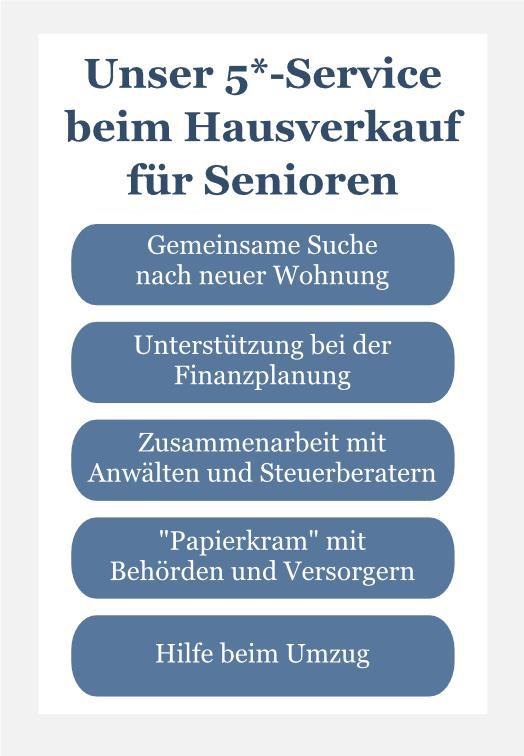 Unser 5-Sterne-Service beim Hausverkauf für Senioren in Hamburg