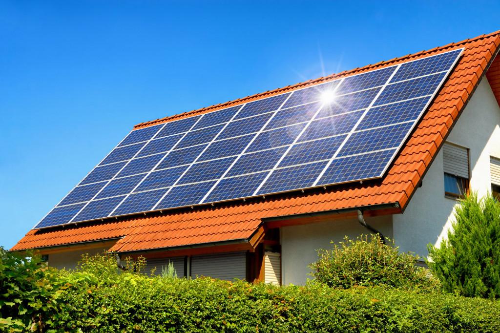 Einfamilienhaus Solaranlage Hausdach